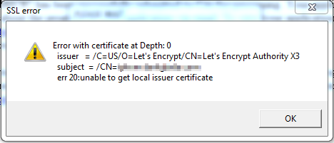 IP Viewer SSL Error